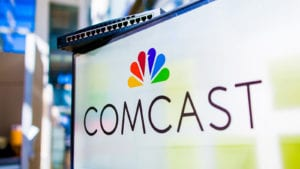 Comcast logo on a computer screen