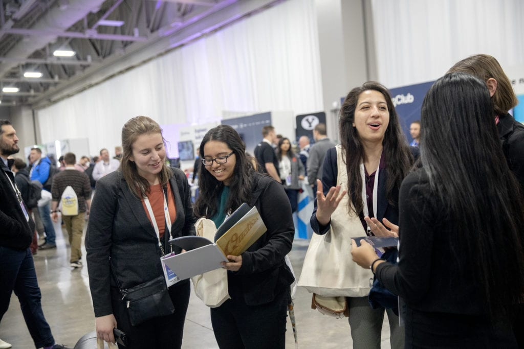 FIND students venturing through the vendor expo at Silicon Slopes.